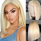 Arenshxc 4X4 Closure Wig 613 Lace Front Wig Straight Echthaar Perücke Wig With Baby Hair 9a Grade For Women Free Part Can Be Dyed 20 zoll