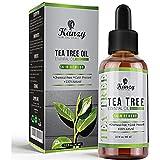 Kanzy Teebaumöl Bio Naturrein 60ml mit Pipette Kaltgepresst Tea Tree Oil für Gesicht, Haut, und Nagel Anti Pickel, Akne Öl, Acne Serum gegen Unreine Haut Ätherische Öle für Diffuser