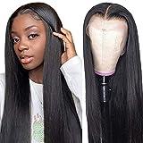 Echthaar perücke frauen T part lace front wig human hair schwarze perücke damen lang glatt straight wig 24inch(60cm)