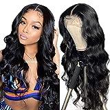 Echthaar perücke Human Hair middle lace front wig wavy natural hair Echthaarperücken für schwarze Frauen real remy brazilian hair 24inch(61cm)