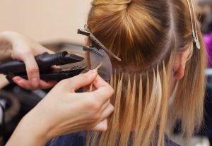 Klassische Haarverlängerung